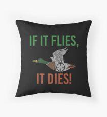 Duck Hunter Throw Pillow