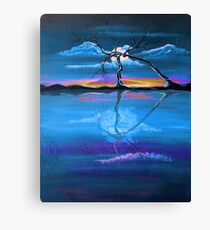 Original Blue Reflection landscape by ANGIECLEMENTINE Canvas Print