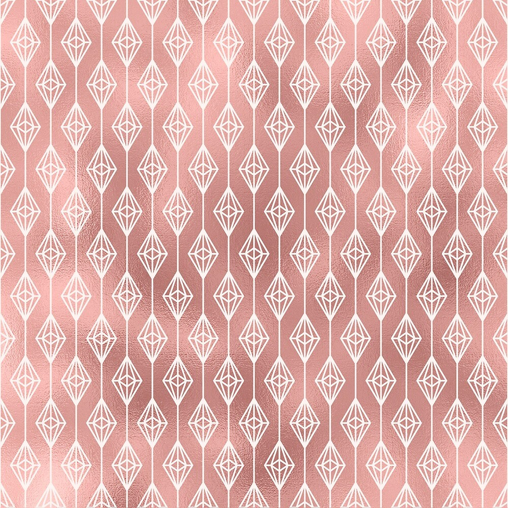 Quot Tribal Boho Pink Rose Gold Diamond Pattern Diamonds
