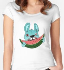 The watermelon Women's Fitted Scoop T-Shirt