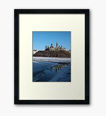 Canada Parliament Buildings Ottawa River Framed Print