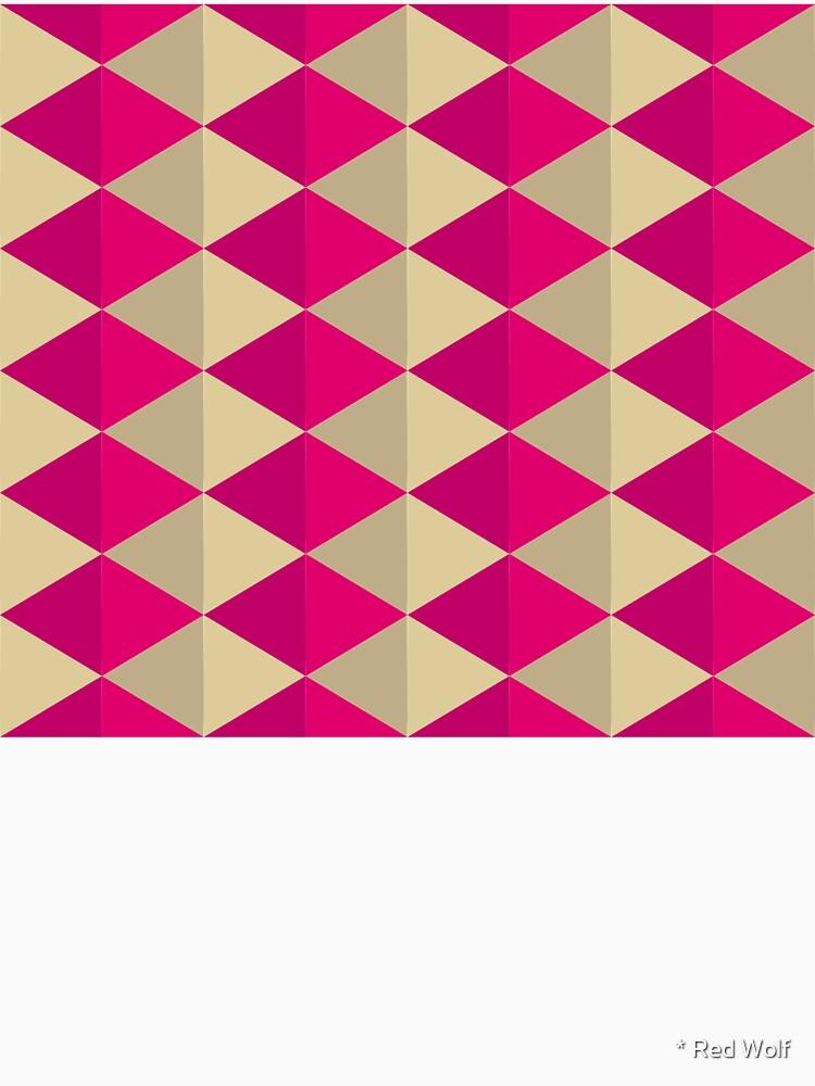 Geometric Pattern: Split Diamond: Pink by redwolfoz