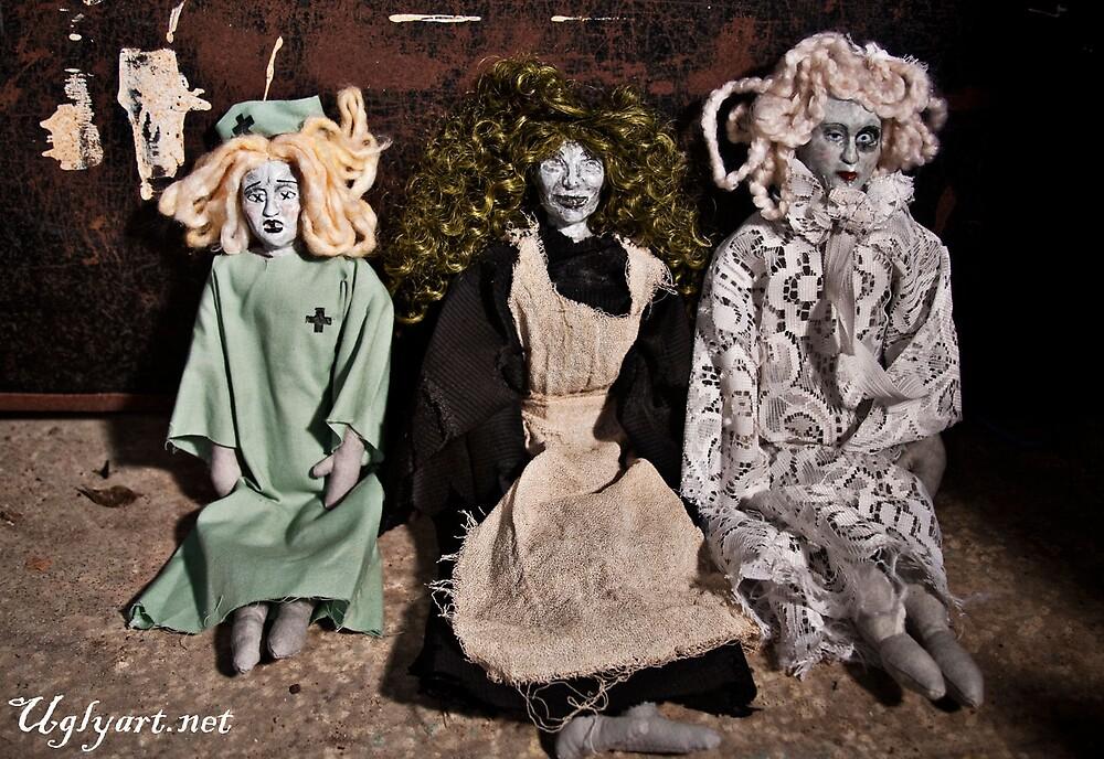 Nurse,Witch and Deco Doll  by uglyshyla