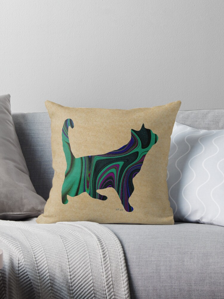 Standing Textured Cat by Bamalam Art and Photography