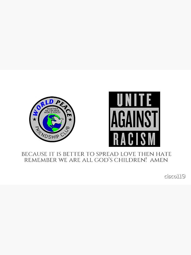 World Peace Friendship Club Unite Against Racism Coffee Mug 17902 by cisco119