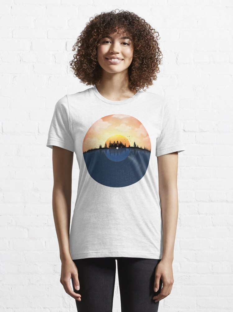 Alternate view of The Sound of nature LP record Essential T-Shirt