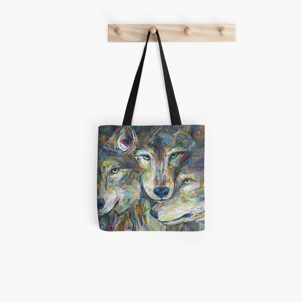 Gray Wolves Painting - 2012 Tote Bag