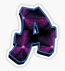 A - rays Sticker