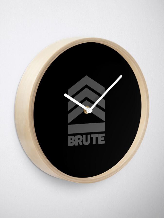 Alternate view of Brute Logo Clock