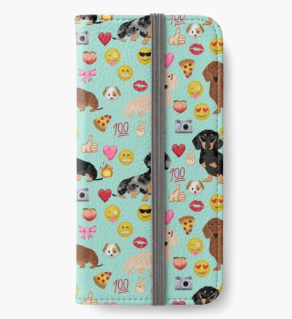 dachshund emoji wiener dogs pet gifts iPhone Wallet