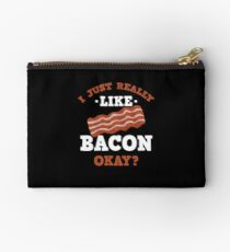 I Just Really Like Bacon Funny Quote T-Shirt Studio Pouch