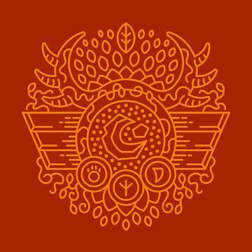 Druid – Class Crest (color) by dcmjs