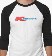 Camiseta ¾ bicolor para hombre Logotipo de K-Mart de los años 80 de la vendimia apenado