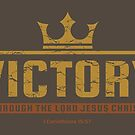Christian Gift - Victory In Jesus - Bible Verse Inspiration by superdazzle