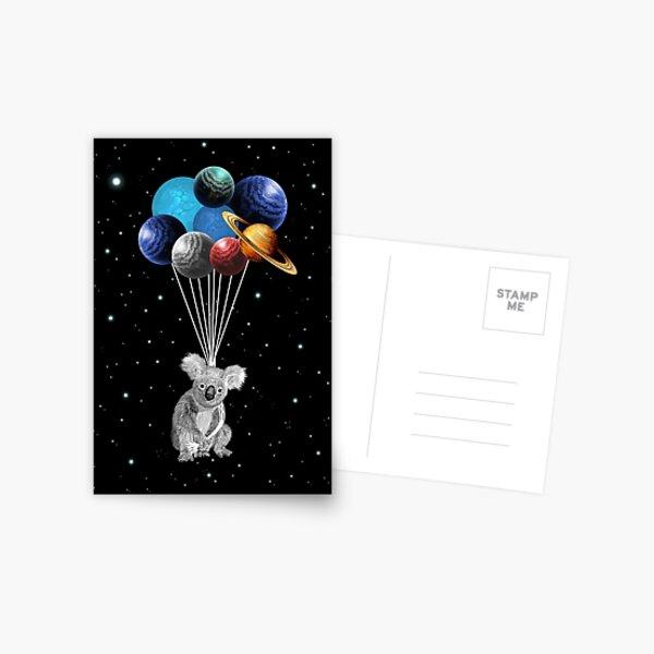 Koala Space Celebration Postcard