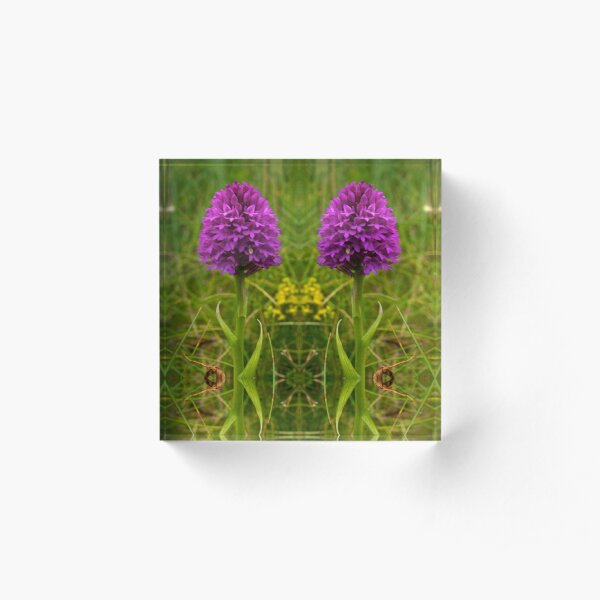 Pyramidal Orchid - iPhone Case Acrylic Block