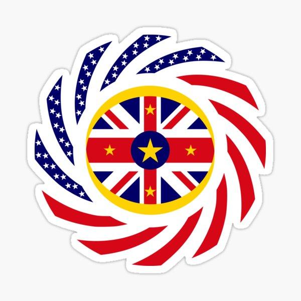 Niuean American Multinational Patriot Flag Series Sticker