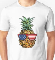 Patriotic Pineapple - 4th of July Unisex T-Shirt