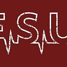 Jesus Heart Beat - Cool Christian Gift Design by superdazzle