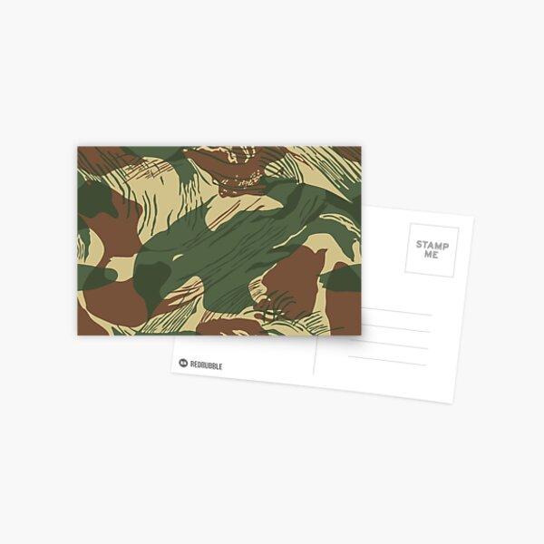Rhodesian Brush Stroke Camouflage Postcard