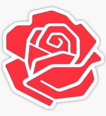 Labour Rose Light Sticker