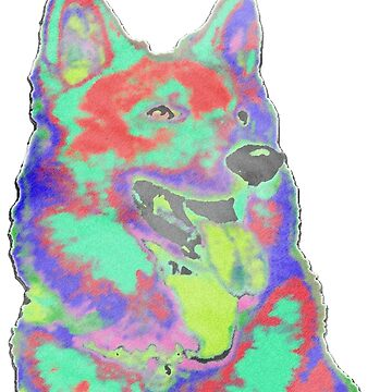 Psychedelic Husky by coltmiller28