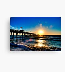 Sunset @ Sharkys Pier - Venice Beach, Florida Canvas Print
