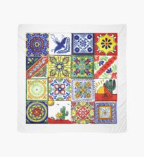 Colorful mosaics painted by hand Scarf