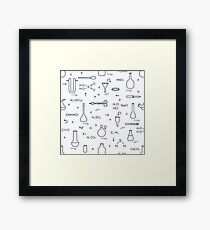 Chemistry, biology. Scientific, education elements Framed Print