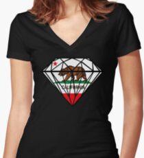 Diamond Republic of California Women's Fitted V-Neck T-Shirt