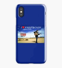 I Love Johnny Cash iPhone Case