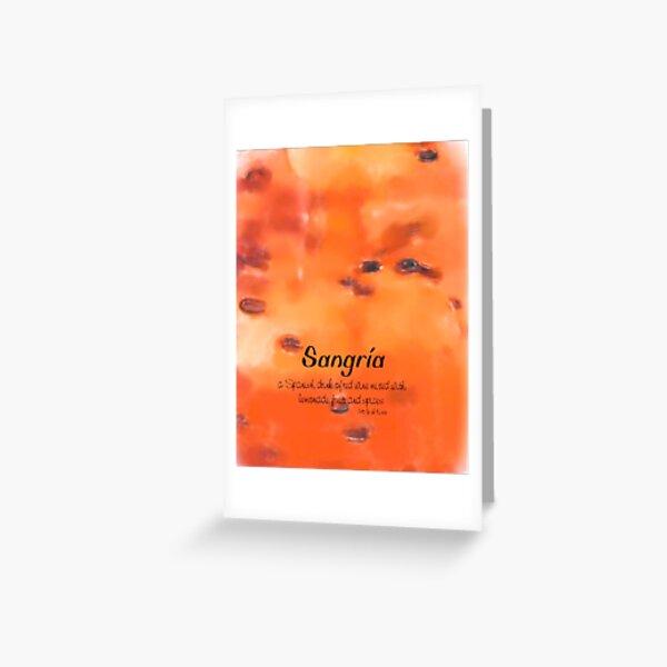 Sangria Grußkarte