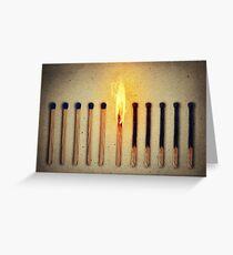 burning alone Greeting Card