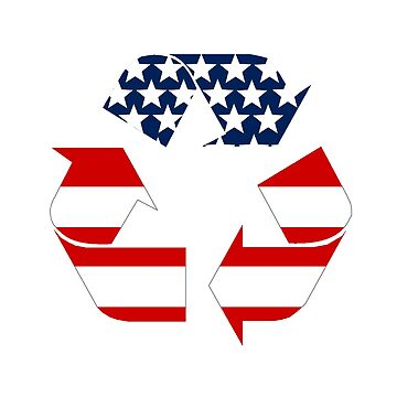 USA Recycling Symbol by Symbolical