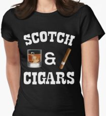 Scotch And Cigars Drinkers And Smokers Women's Fitted T-Shirt