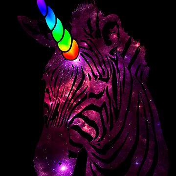 unicorn galaxy zebra 1 by Galbrin