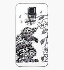 Raindrop Bunny and Flowers Case/Skin for Samsung Galaxy