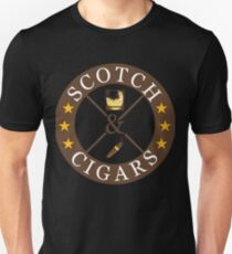 Scotch And Cigars Drinkers And Smokers Unisex T-Shirt