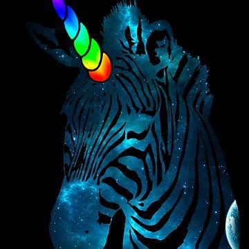 unicorn galaxy 2 zebra by Galbrin