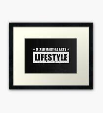 MMA Lifestyle Brand - Block Framed Print