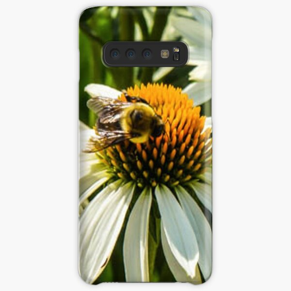 BEE ON WHITE CONE DAISY Samsung Galaxy Snap Case