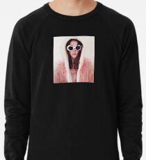 Girl with Cobain Sunglasses Lightweight Sweatshirt