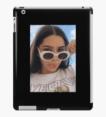 Girl with White Retro Sunglasses iPad Case/Skin