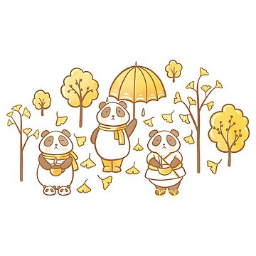 Pandas and ginkgo by Elenanaylor