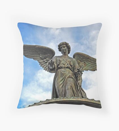 angel of the waters up close Throw Pillow