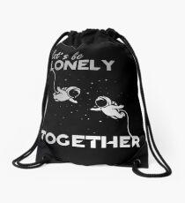 Lonely Together Drawstring Bag