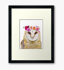 Olivia the Owl Framed Print
