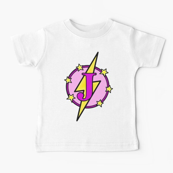 Cute Superhero Girl Super Letter J - Pink and Purple Baby T-Shirt