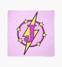 Cute Superhero Girl Super Letter J - Pink and Purple Scarf