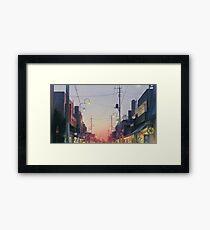 Studio Ghibli Anime Landscape Japan Framed Print